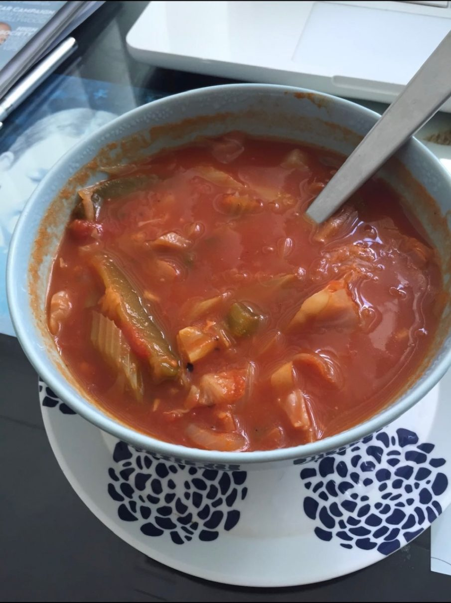 Zero Calorie Cabbage Soup